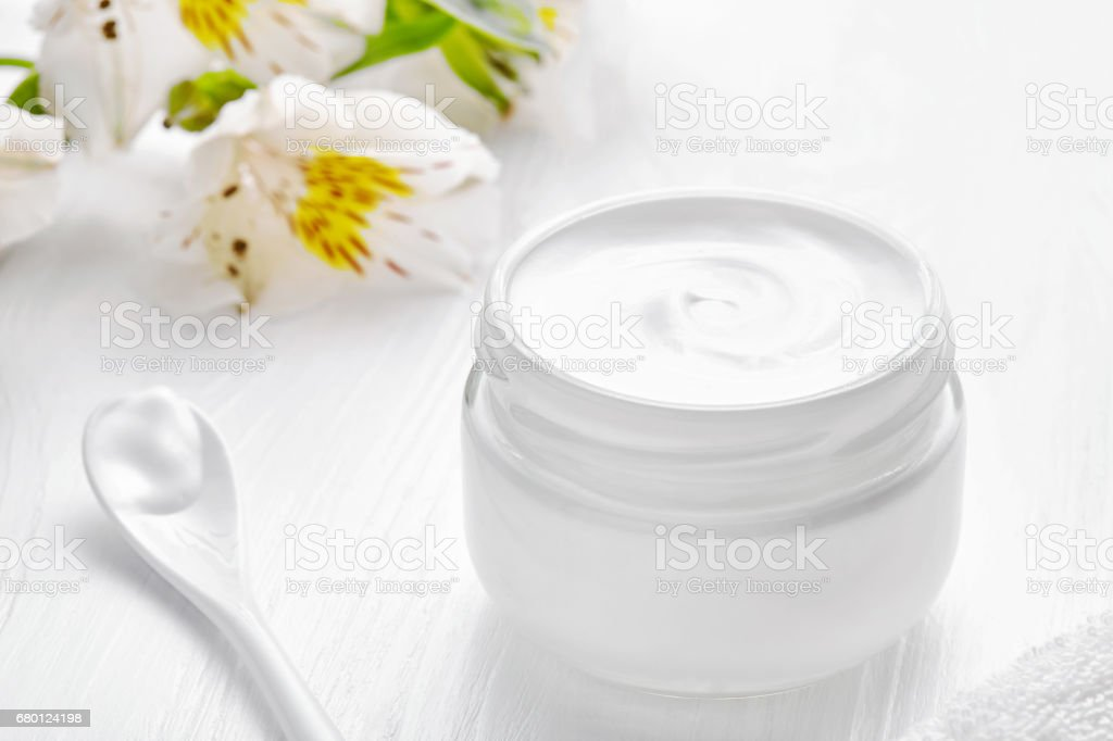 Body shaping cosmetic cream herbal lotion anti cellulite skin care helthy leg treatment stock photo