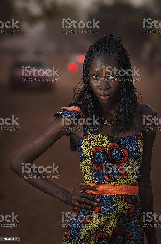 Body Shot of an African Model (Mali) stock photo