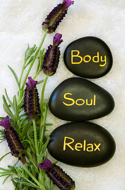 body, soul and relax - thai massage stock photos and pictures