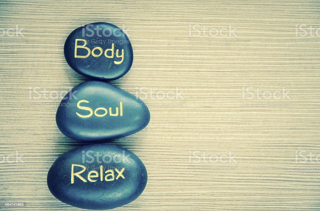 body soul relax lava stone royalty-free stock photo
