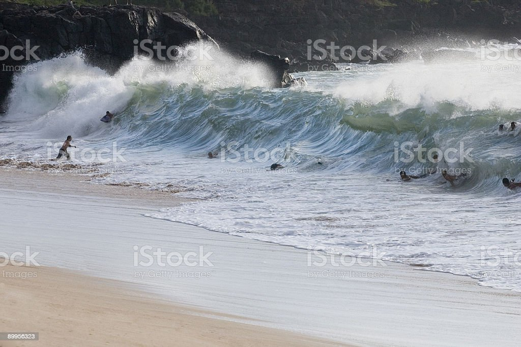 Body Surfing royalty-free stock photo