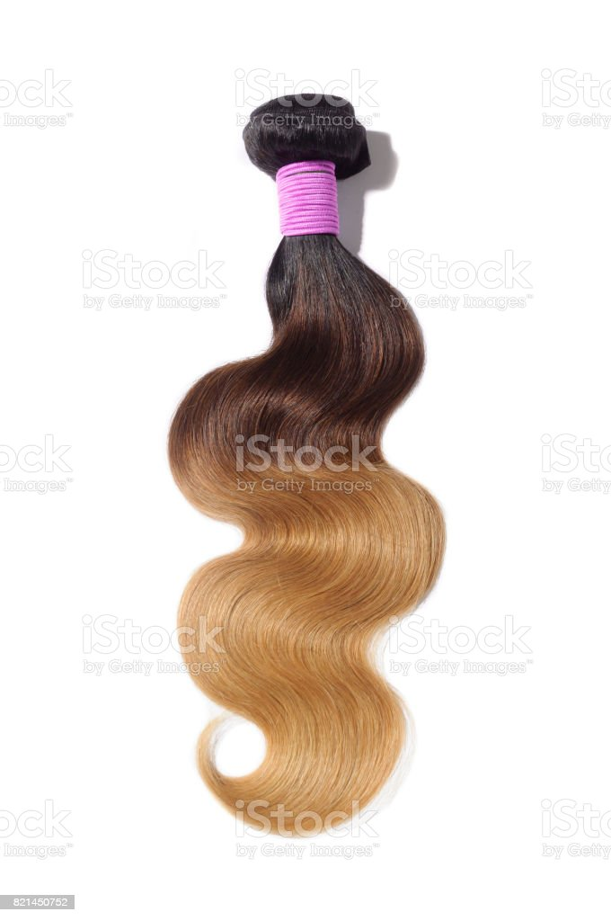 Ombre hair bundles with black brown and blonde