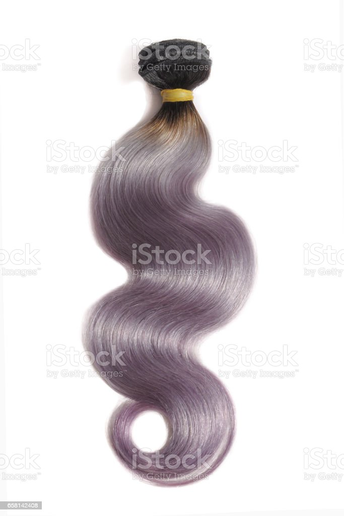 Body Wave Two Tone Dip Black With Purple Ombre Hair Extension