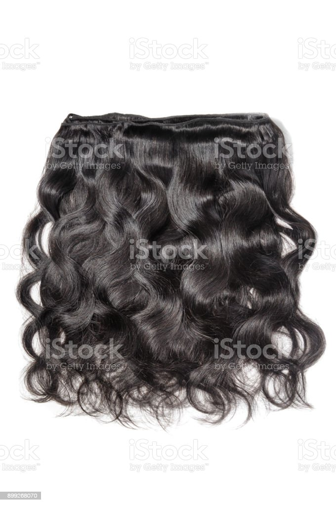 cabelo humano preto ondulado corpo tecer extensões - foto de acervo