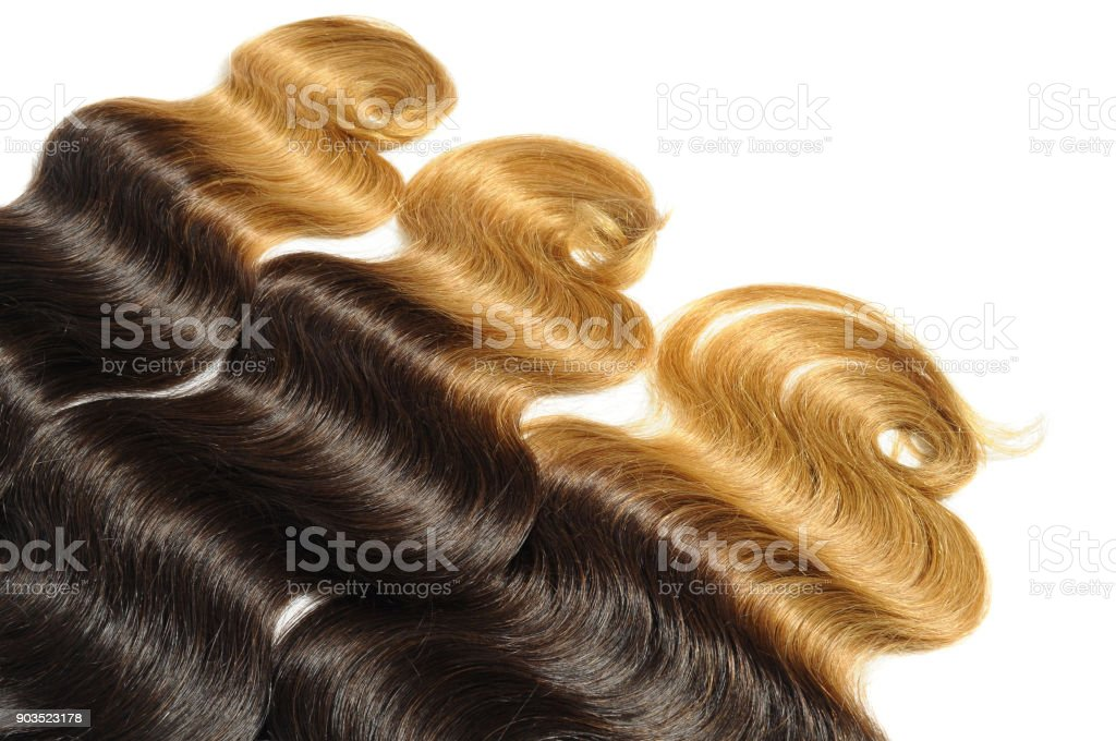 ombre hair style body wavy human hair