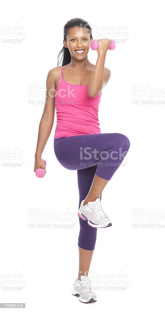 Body weight exercises stock photo