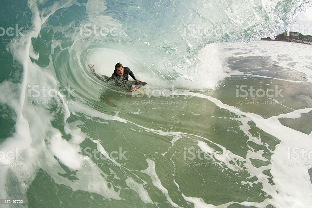 Bodyboarder stock photo