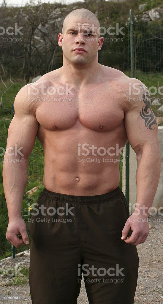 Bodybuilder and fighter from Croatia royalty-free stock photo