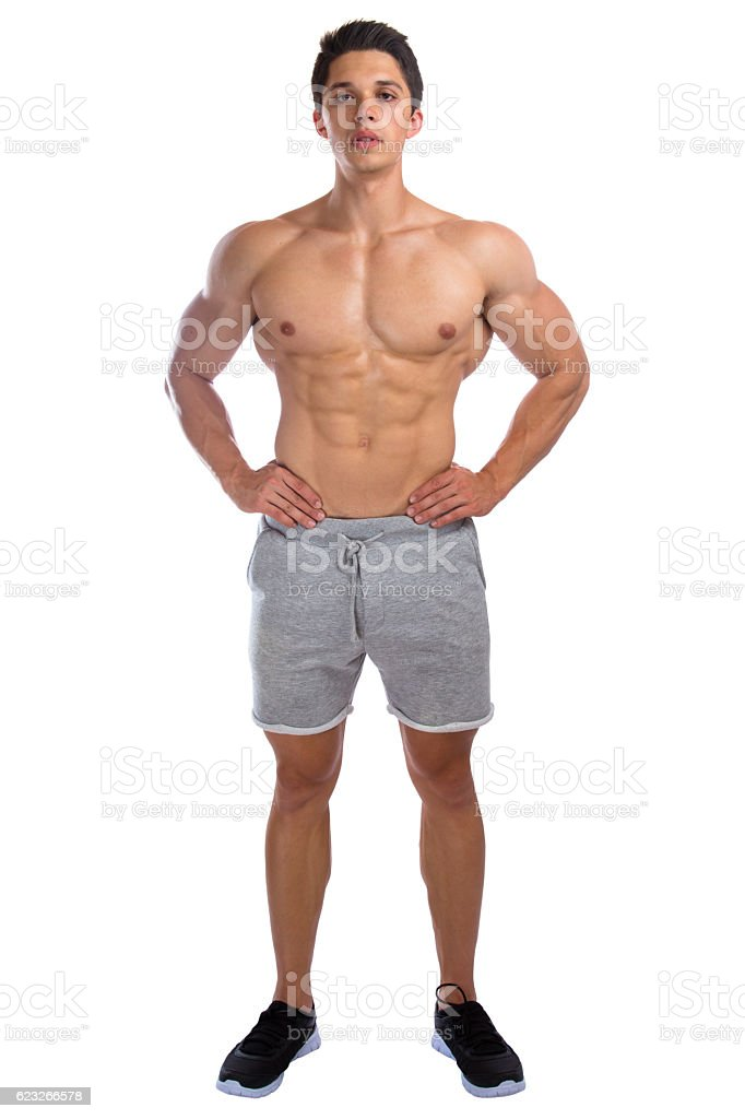 bodybuilder bodybuilding muscles standing whole body portrait strong