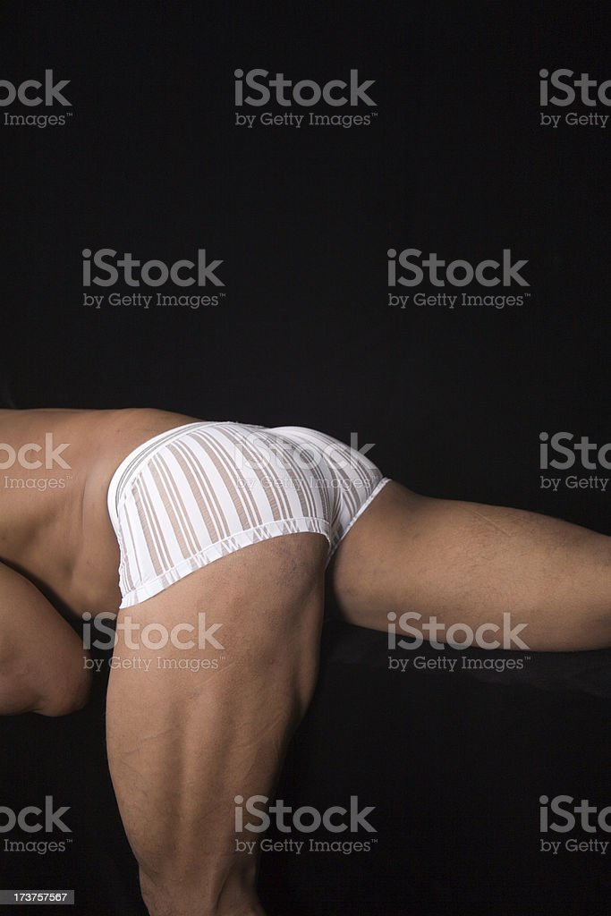 bodybuilder butt portrait royalty-free stock photo