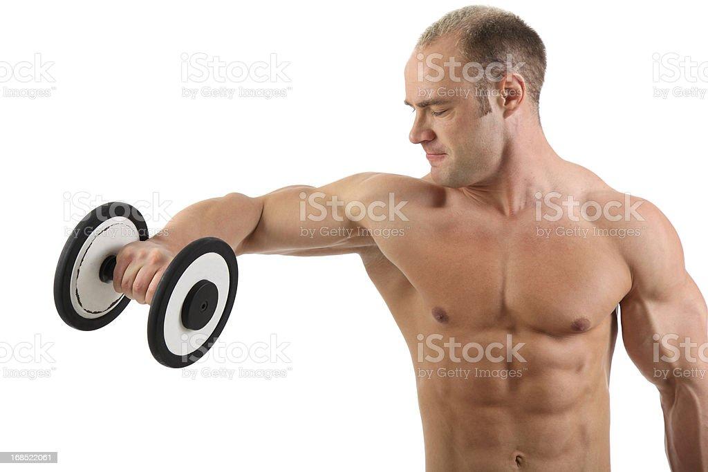 Bodybuilder exercising royalty-free stock photo