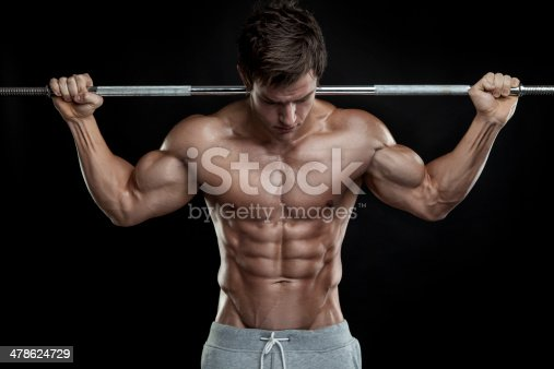 istock Bodybuilder exercising with dumbbells 478624729