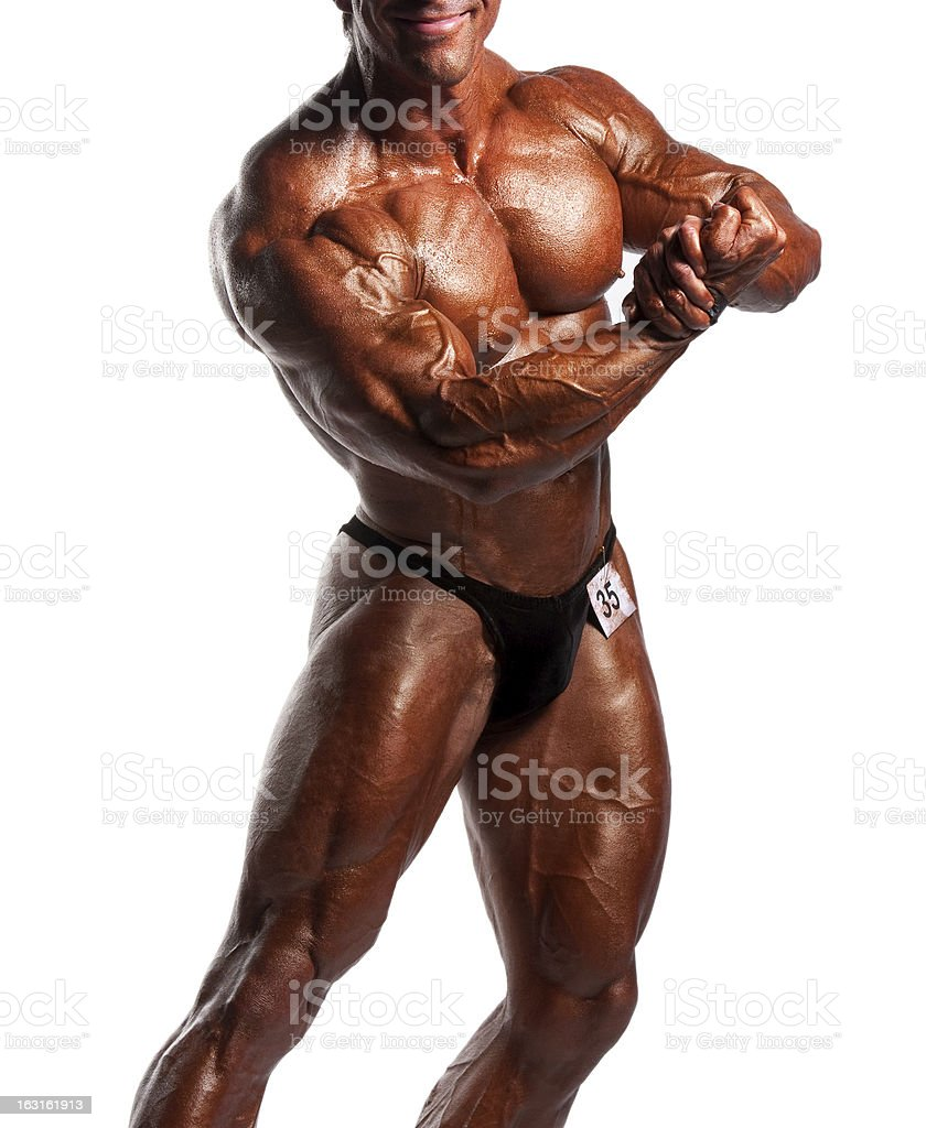 bodybuilder flexing royalty-free stock photo
