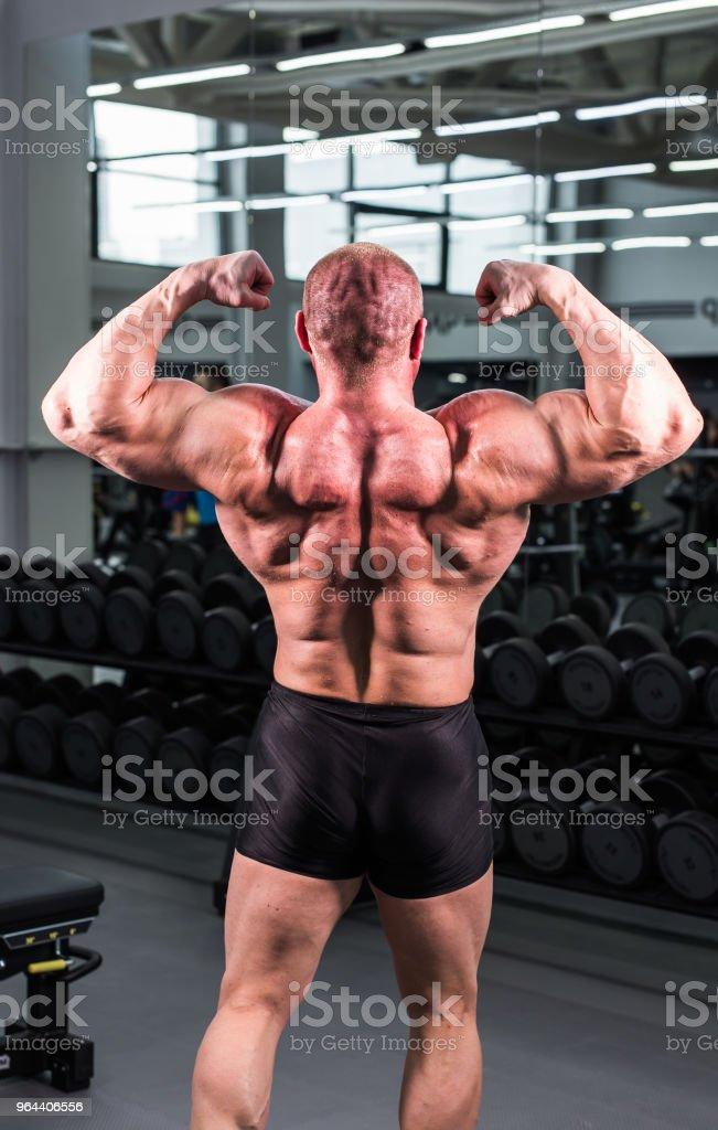 Bodybuilder in the gym - Royalty-free Abdomen Stock Photo