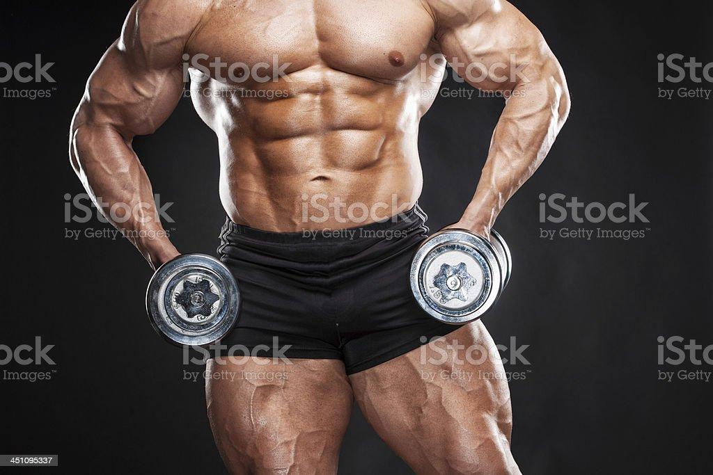 Bodybuilder. stock photo
