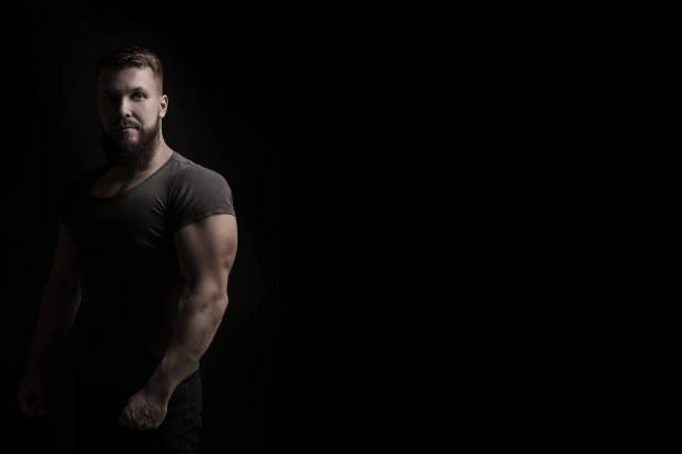 bodybuilder portrait - testosterone stock pictures, royalty-free photos & images