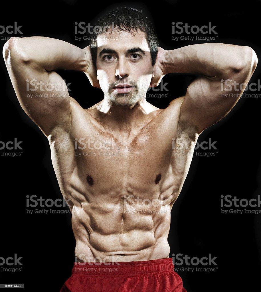 bodybuilder portrait royalty-free stock photo