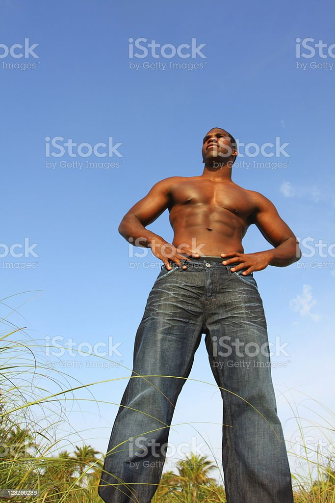 Bodybuilder Standing Tall royalty-free stock photo