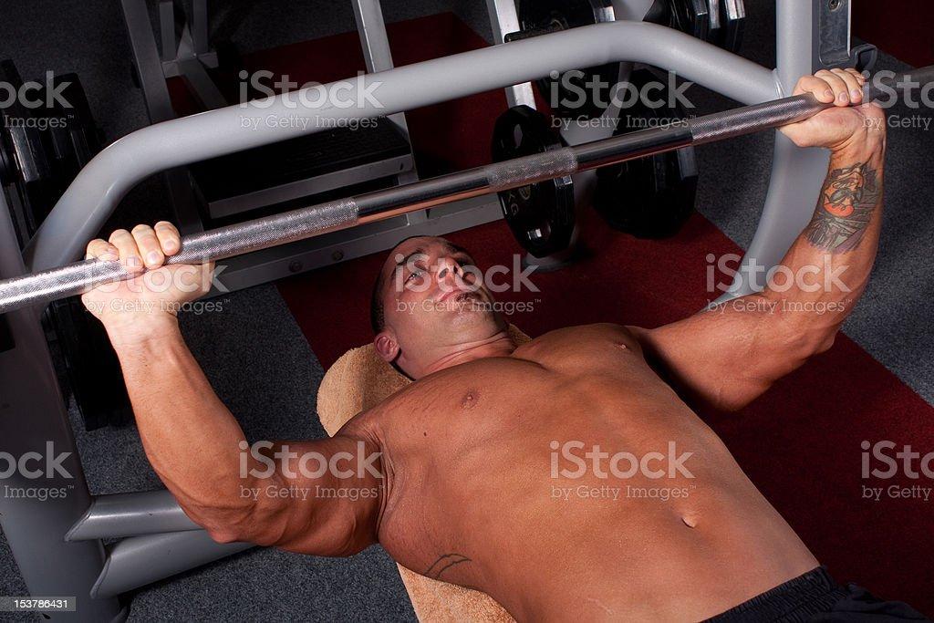 Bodybuilder training i royalty-free stock photo