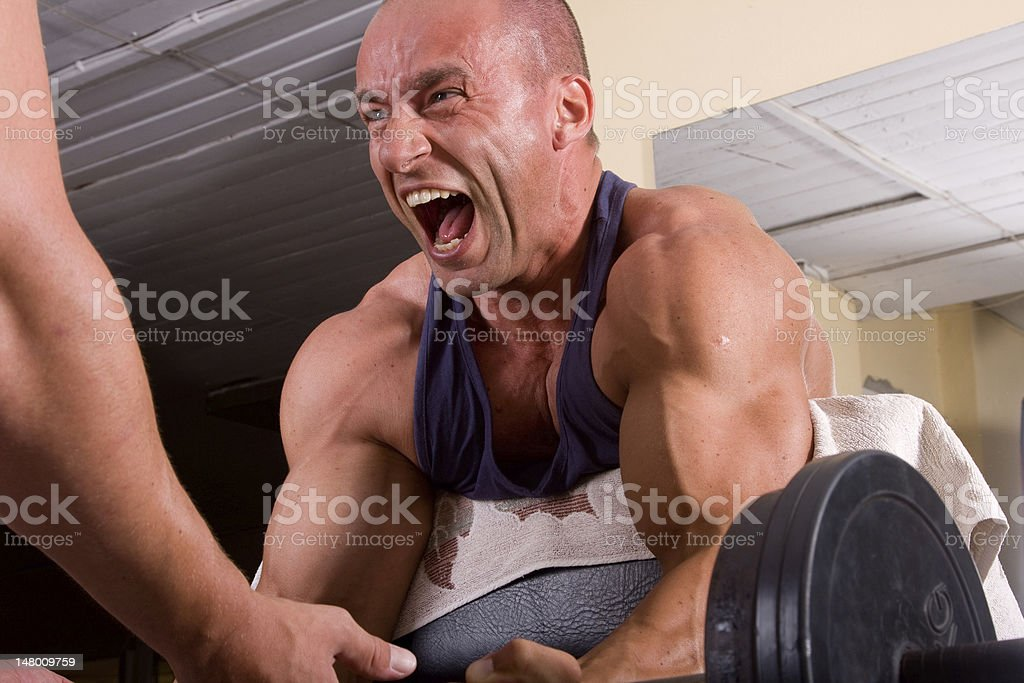 bodybuilder training royalty-free stock photo