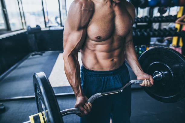 健美腹部肌肉 - 肌肉發達 個照片及圖片檔