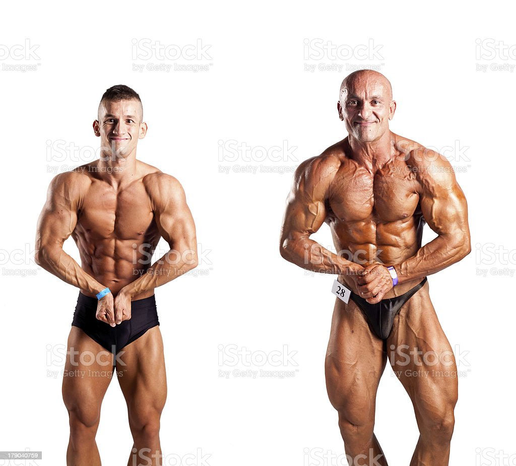Bodybuilders royalty-free stock photo