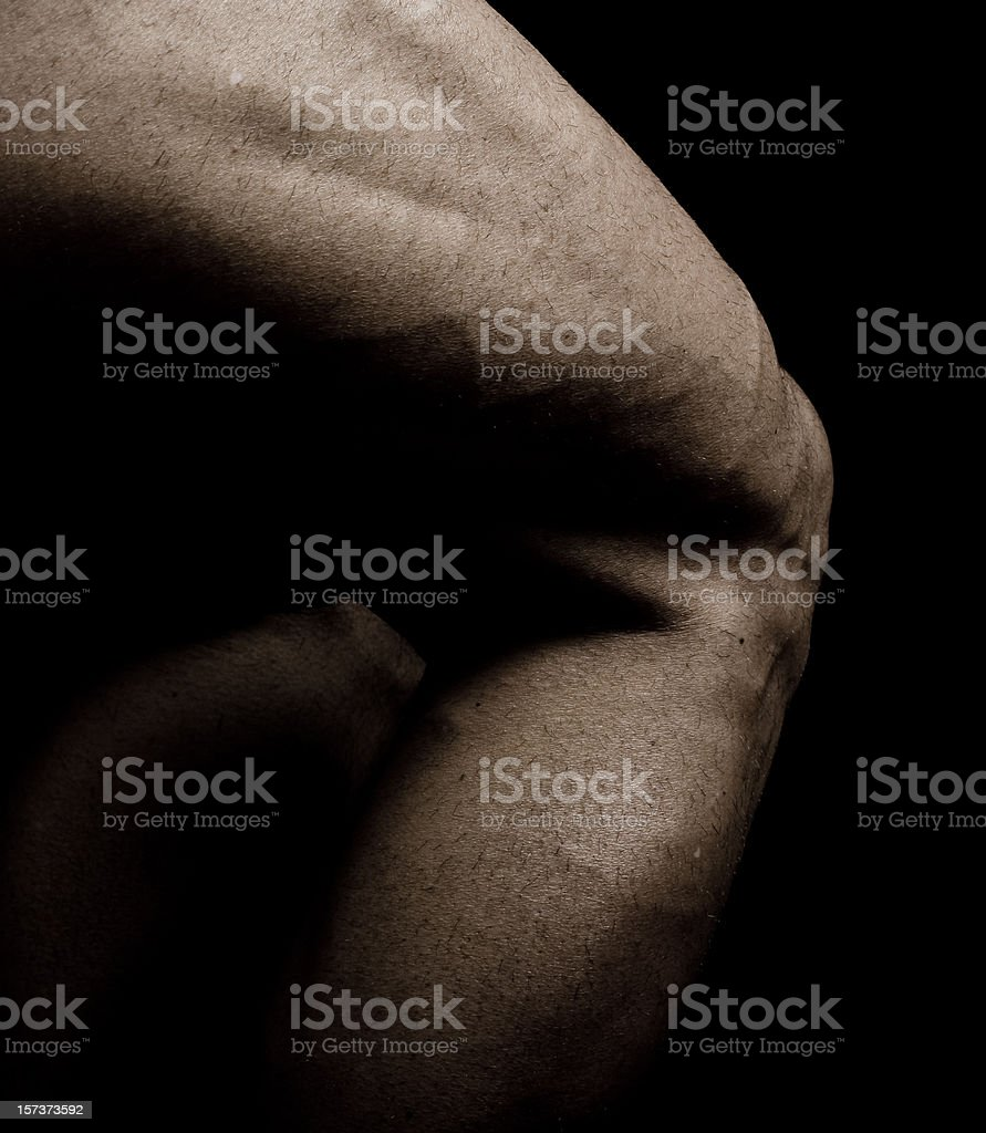 Bodybuilder's Thighs and Calves royalty-free stock photo