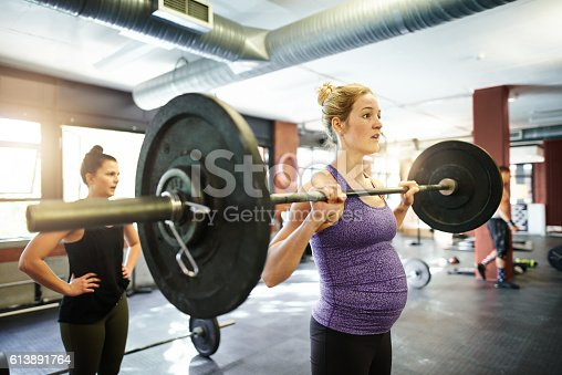 istock Bodybuilding and baby bumps 613891764