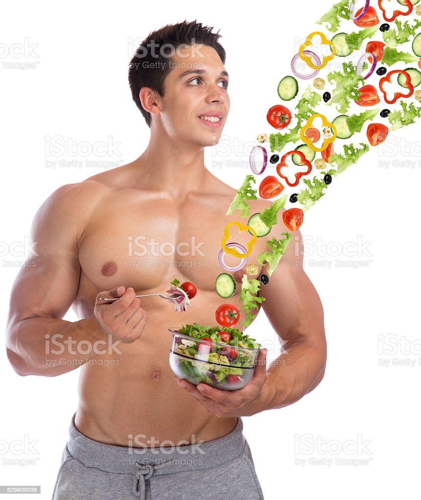 Bodybuilding Bodybuilder Healthy Eating Food Flying Salad Body Builder Stock Photo Download Image Now Istock