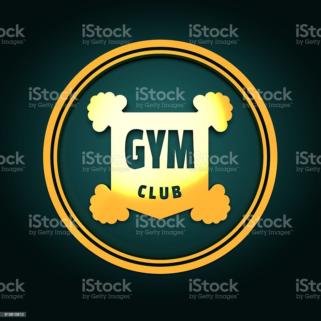 Bodybuilding Coat Of Arms Stock Photo - Download Image Now