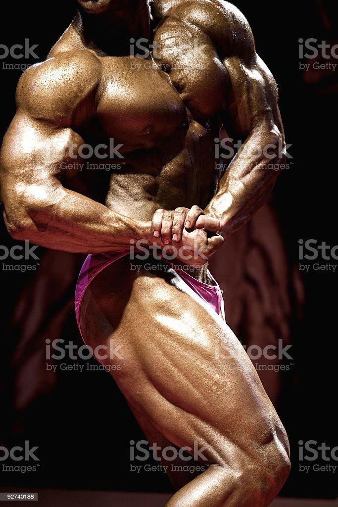 Bodybuilding contest stock photo