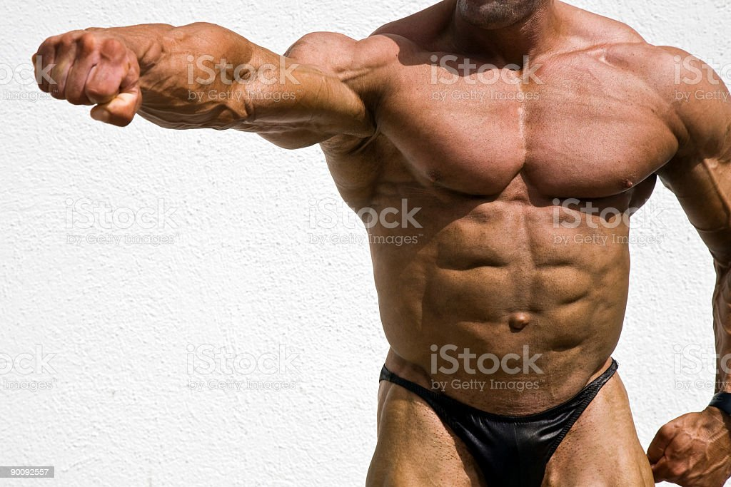 Bodybuilding  details royalty-free stock photo