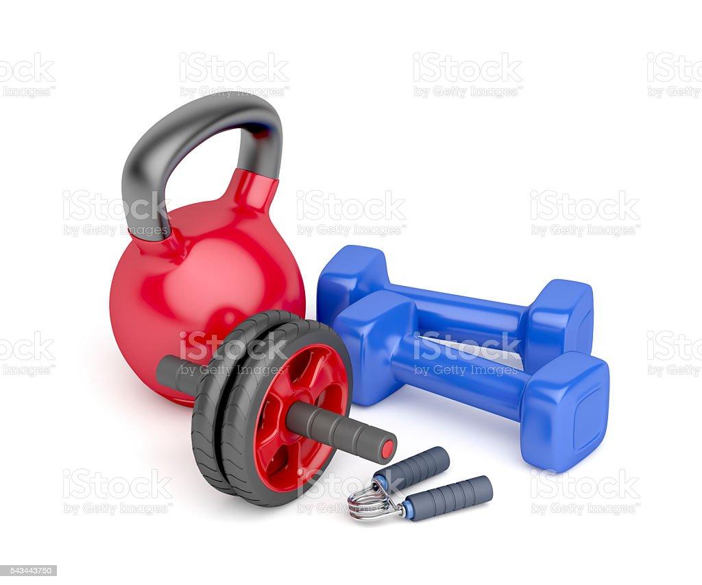 Bodybuilding equipment stock photo