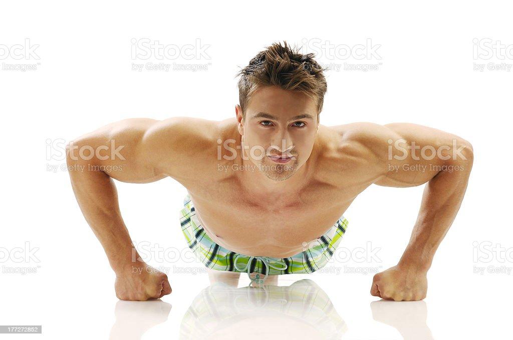 Body-building royalty-free stock photo