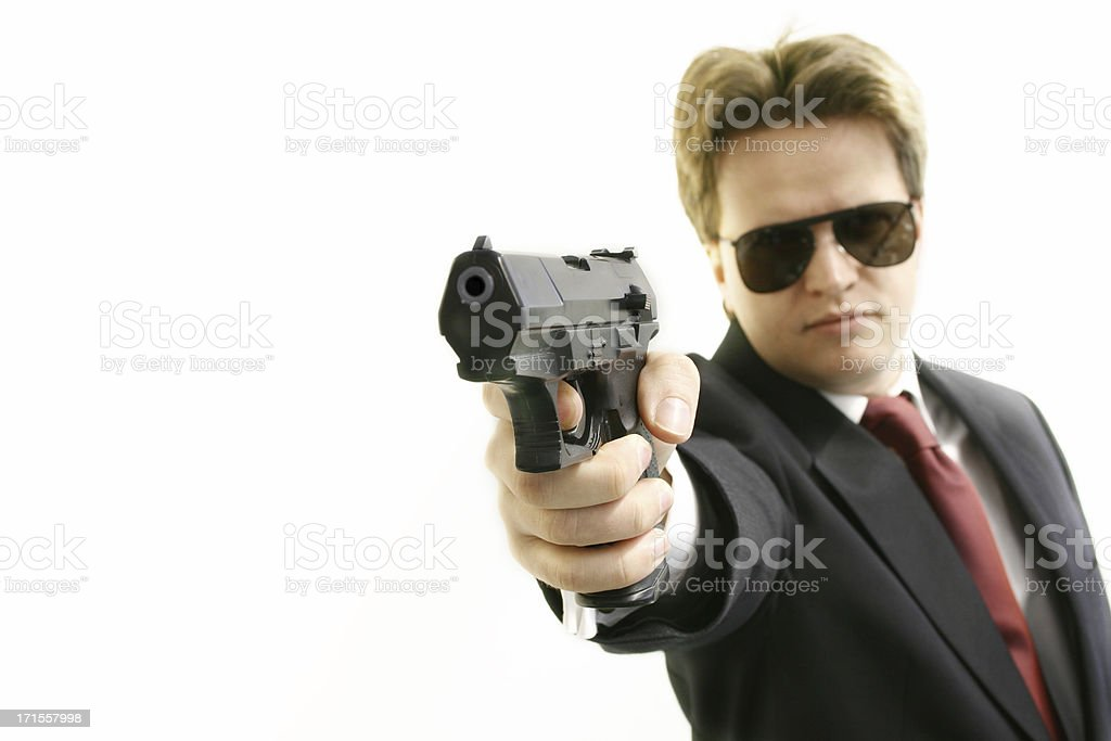 Bodyguard - Hands Up royalty-free stock photo