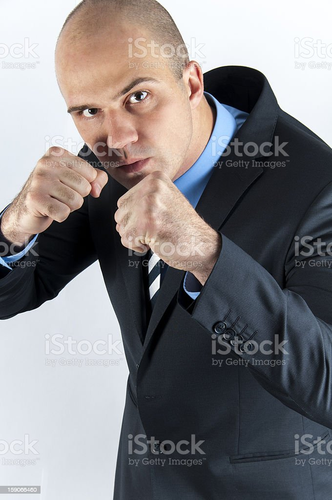 Bodyguard in business royalty-free stock photo