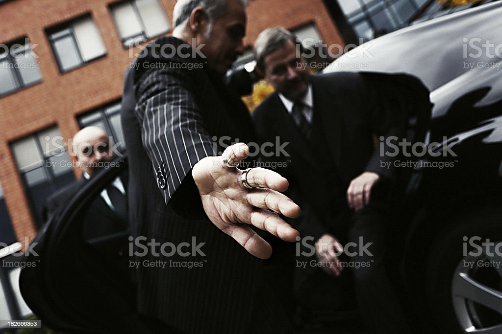 Bodyguards at Work royalty-free stock photo