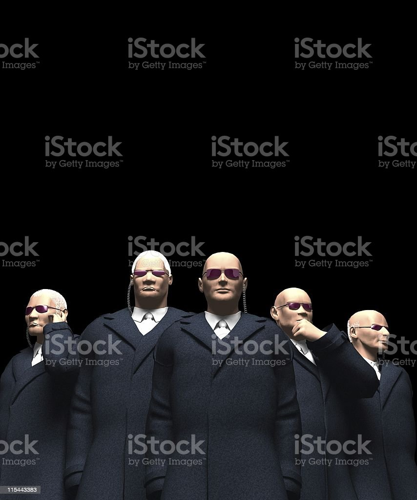 bodyguards royalty-free stock photo