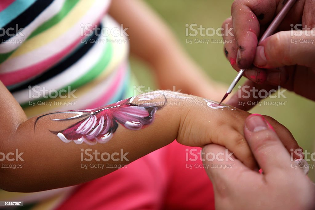 Bodypainting at the party. royalty-free stock photo