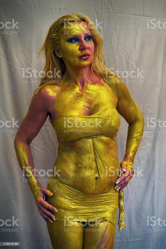 Bodypainting stock photo