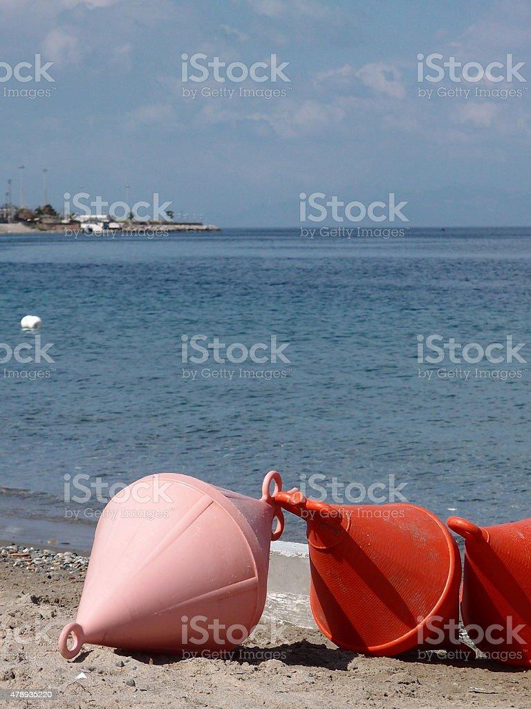 Boe di attracco e segnalazione stock photo