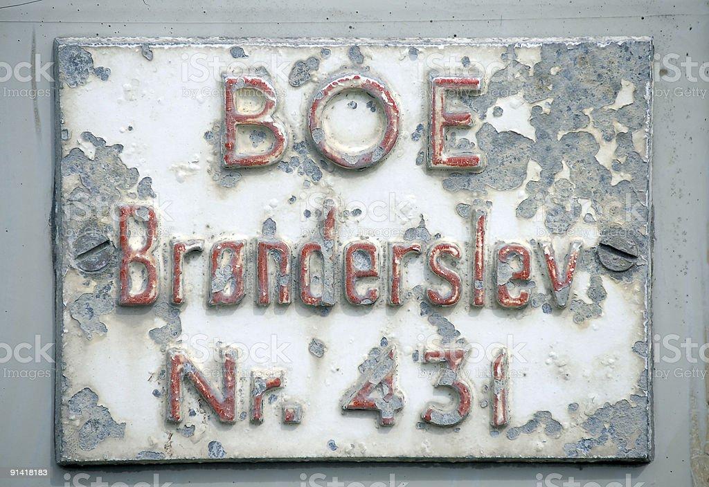Boe Sign stock photo