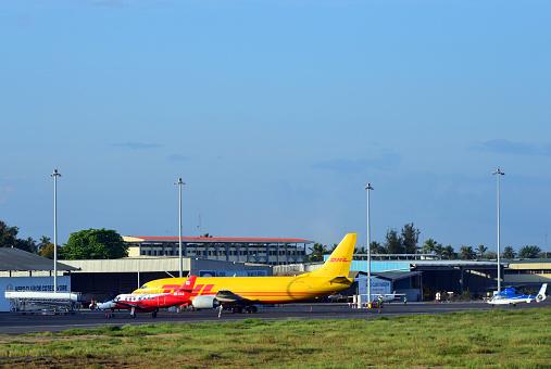 DHL Boeing 737 at Abidjan Airport - Félix-Houphouët-Boigny International Airport, Abidjan, Ivory Coast