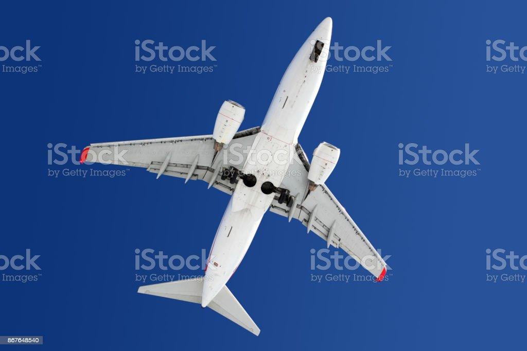 Boeing 737 modern civil airplane stock photo