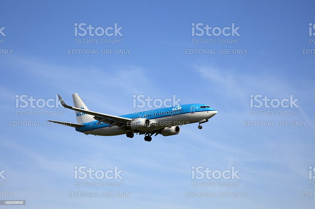 KLM Boeing 737 royalty-free stock photo