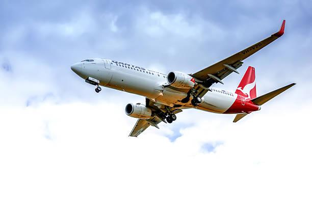 boeing 737 - qantas foto e immagini stock