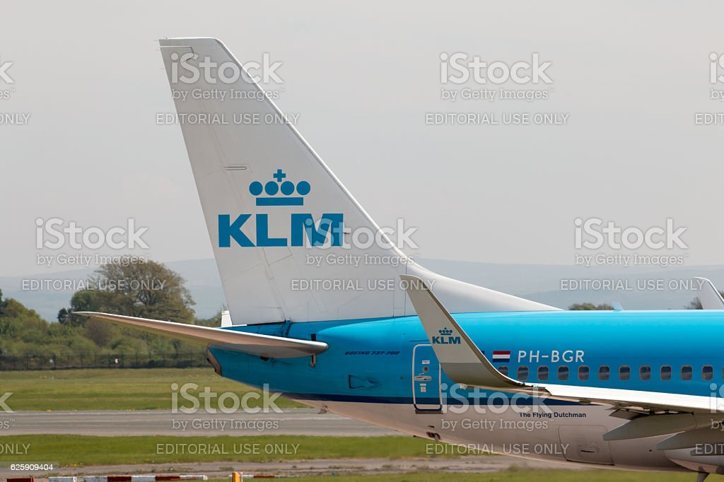 KLM Boeing 737 stock photo