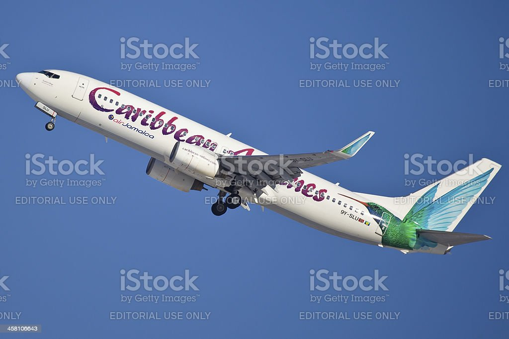 Boeing 737-800 Caribbean Airlines stock photo
