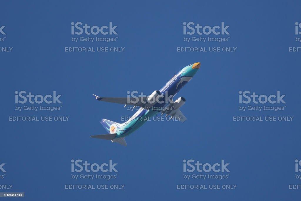 Boeing 737-800 of NokAir Airline. stock photo
