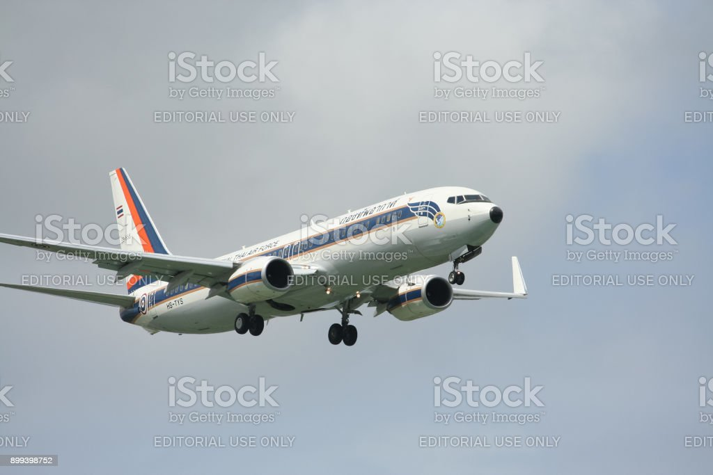 HS-TYS Boeing 737-800 of Royal Thai Air force stock photo